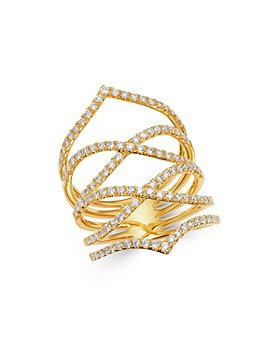 Bloomingdale's - Diamond Pavé Openwork Statement Ring in 14K Yellow Gold, 1.0 ct. t.w. - 100% Exclusive