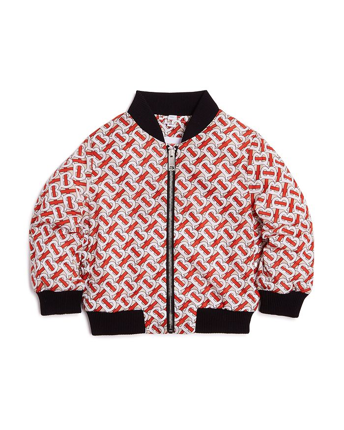 Burberry - Unisex Monogram-Print Nylon Bomber Jacket - Little Kid, Big Kid