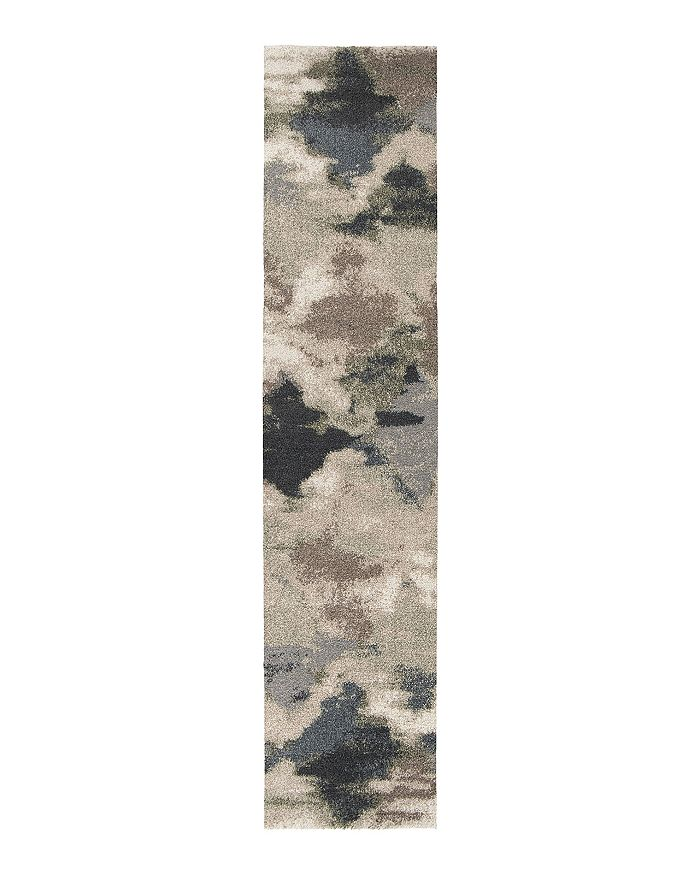 Palmetto Living Mystical Harlequin Runner Rug, 2'3 X 8'0 In Muted Blue