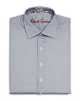 Robert Graham - Boys' Crossett Cotton-Blend Small Check Dress Shirt - Big Kid