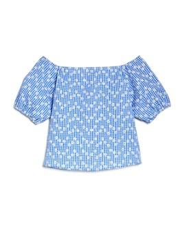 AQUA - Girls' Daisy Printed Puff-Sleeve Top, Big Kid - 100% Exclusive