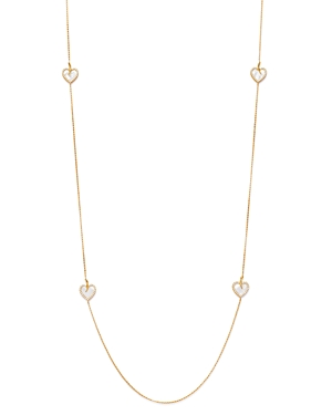 Roberto Coin 18K Yellow Gold Diamond Heart Station Necklace, 31-Jewelry & Accessories