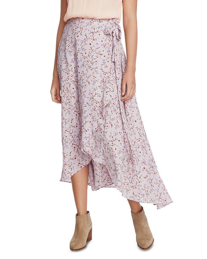 1.STATE - Wildflower Vines Wrap Skirt