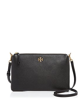 Tory Burch - Kira Small Pebbled Leather Top-Zip Crossbody