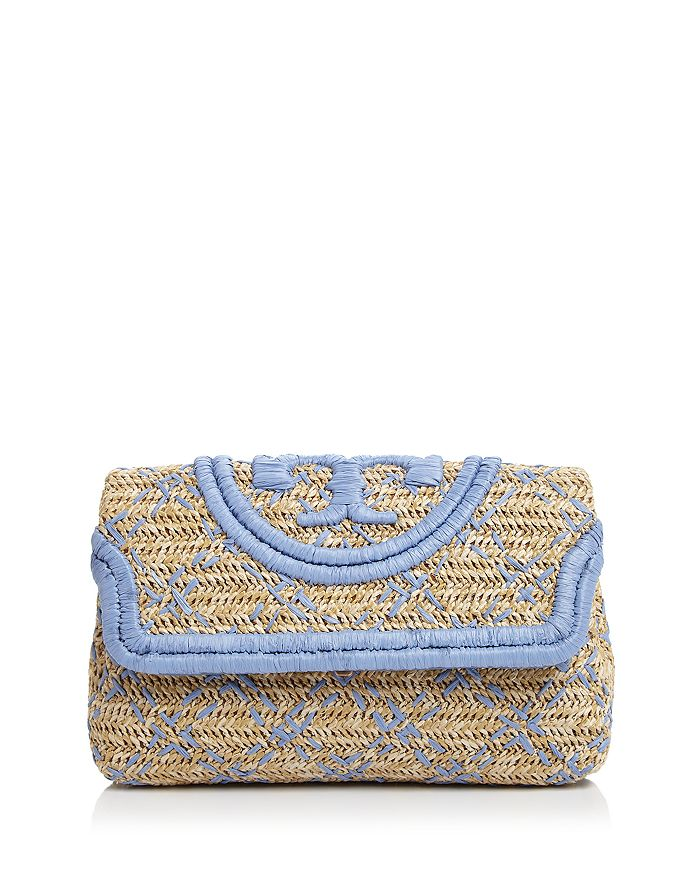 Tory Burch - Fleming Soft Small Straw Clutch