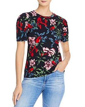 PAM & GELA - Floral-Print Puffed-Sleeve Top