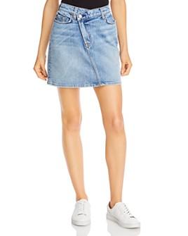7 For All Mankind - Asymmetrical Denim Skirt