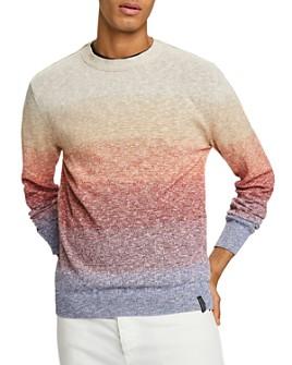 Scotch & Soda - Slub Knit Gradient-Stripe Slim Fit Sweater