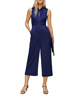 Whistles - Cropped Satin Jumpsuit