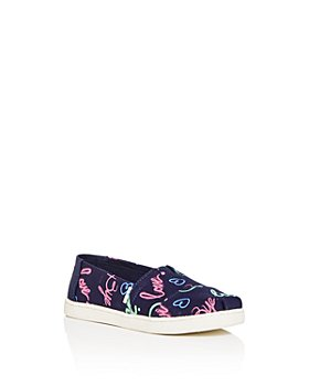 TOMS - Girls' Electric Love Print Classic Slip-On Sneakers - Toddler, Little Kid, Big Kid