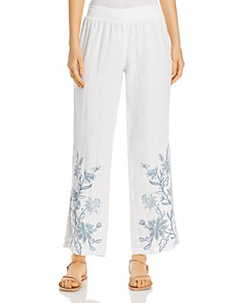 Johnny Was - Maike Floral Linen Palazzo Pants
