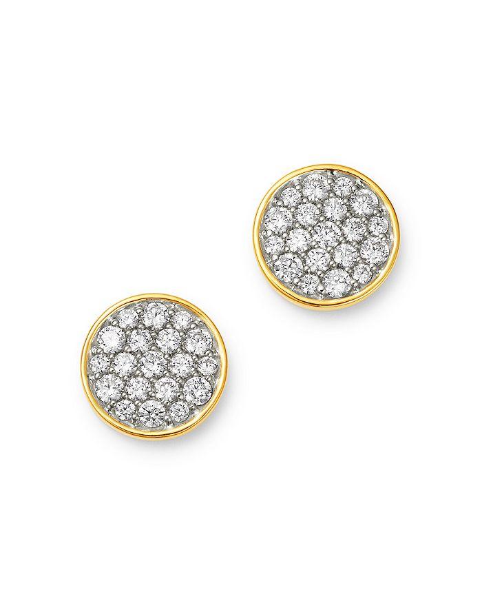 Bloomingdale's - Diamond Pavé Disc Stud Earrings in 14K Gold, 1.0 ct. t.w. - 100% Exclusive
