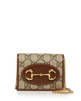 Gucci - 1955 Horsebit GG Supreme Canvas Card Case Chain Wallet