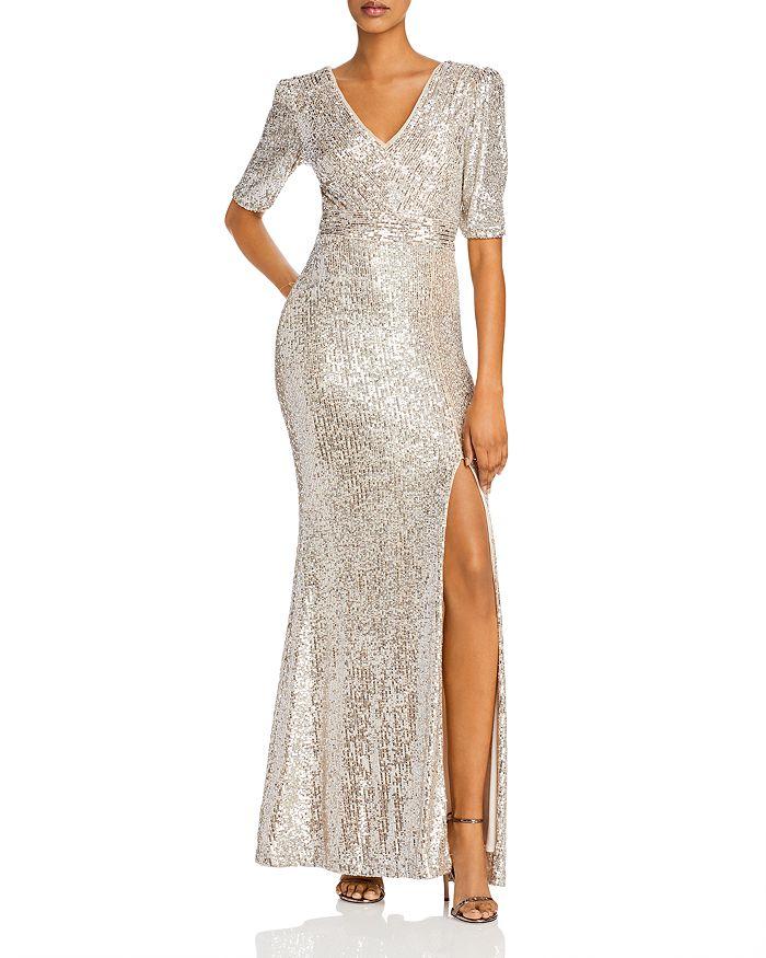 AQUA - Sequined Evening Gown - 100% Exclusive