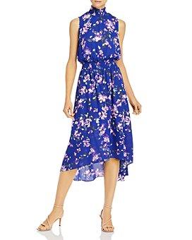 nanette Nanette Lepore - Floral-Print Smocked-Waist Dress