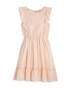BCBG GIRLS - Girls' Dot Ruffle Chiffon Dress - Big Kid