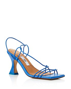 Miista - Women's Sally Ocean Blue Square Toe High Heel Sandals