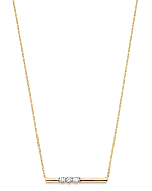 Bloomingdale's Diamond Triple Stone Bar Necklace in 14k Gold, 17-19 - 100% Exclusive