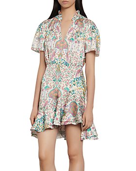 Sandro - Iren Floral-Print Mini Dress