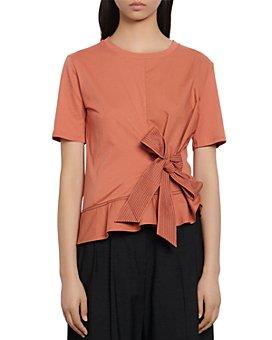 Sandro - Node Bow-Detail T-Shirt