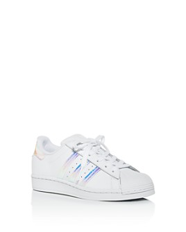 Adidas - Girls' Iridescent Superstar Low-Top Sneakers - Big Kid
