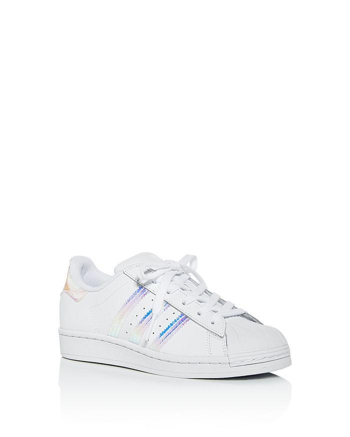 Adidas - Girls' Iridescent Superstar Slip-On Sneakers - Walker, Toddler, Little Kid, Big Kid