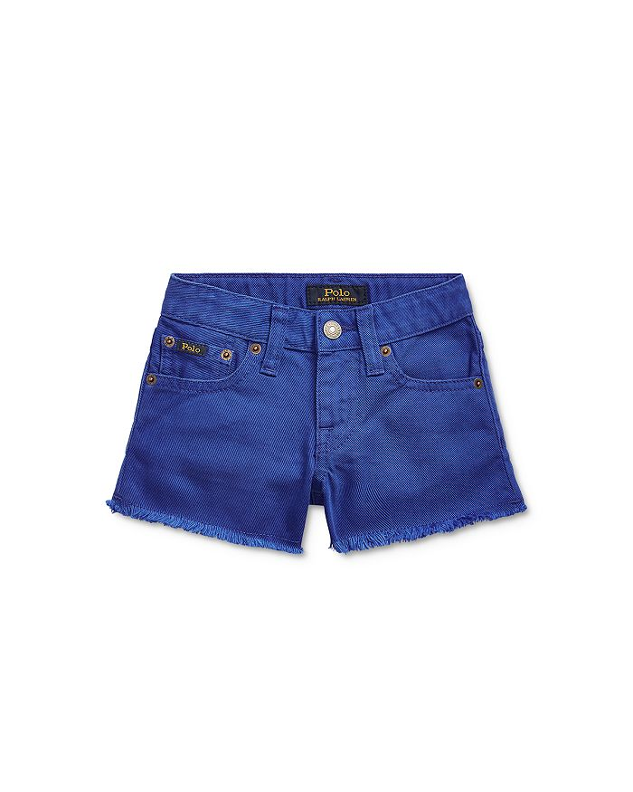 Ralph Lauren - Girls' Cotton Raw-Hem Shorts - Little Kid