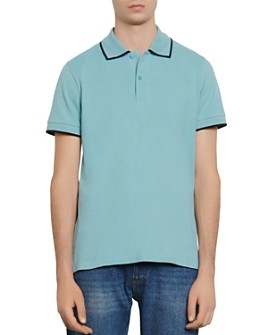 Sandro - Slim-Fit Contrast-Trim Polo