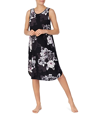 Dkny Floral Print Long Nightgown