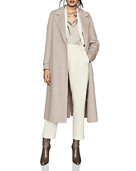REISS - Lily Textured Blind-Seam Coat