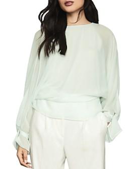 REISS - Eboni Layered Long-Sleeve Top