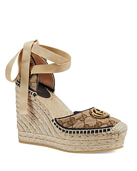 Gucci - Women's GG Matelassé Platform Espadrille Sandals