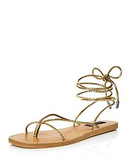 AQUA - Women's Zina Strappy Sandals