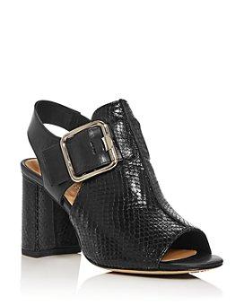 Donald Pliner - Women's Anette Snake-Embossed Slingback Block-Heel Sandals