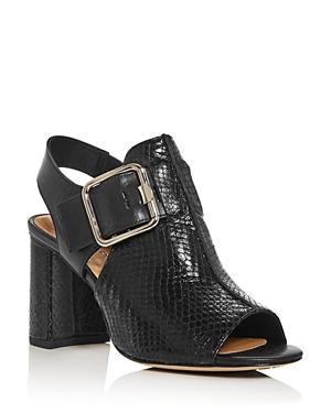 Donald Pliner Women\\\'s Anette Snake-Embossed Slingback Block-Heel Sandals