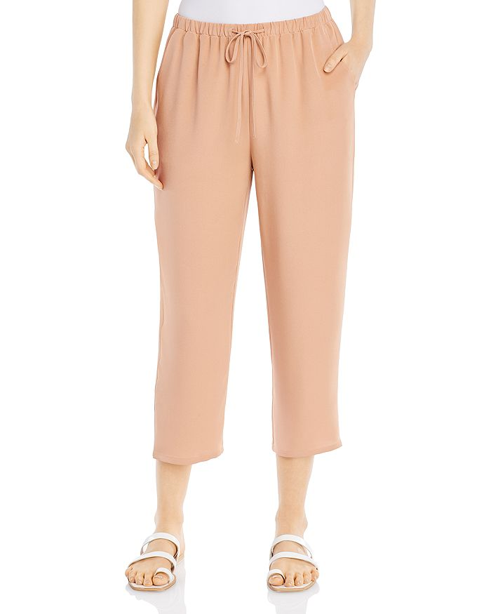 Eileen Fisher - Silk Cropped Drawstring Pants