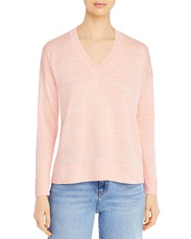 Eileen Fisher Petites - Organic Linen V-Neck Sweater