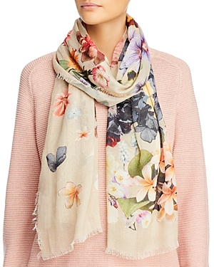 Echo Enchanting Floral Print Oblong Scarf