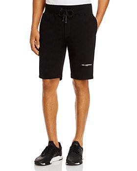 KARL LAGERFELD PARIS - Cotton-Blend Color-Blocked Shorts