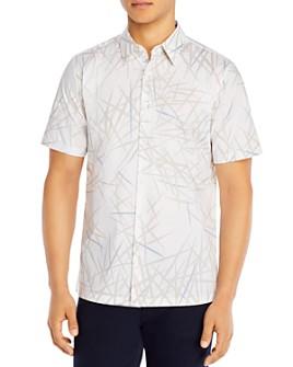 Theory - Irving Tropical Print Regular Fit Short Sleeve Button-Up Shirt