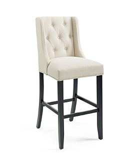 Modway - Baronet Tufted Button Upholstered Fabric Bar Stool
