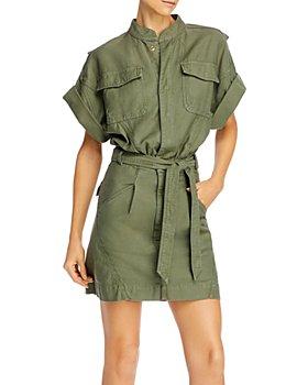 FRAME - Twisted Utility Shirt Dress