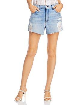 FRAME - Le Ultra Baggy Ripped Denim Shorts in Lomond Slash