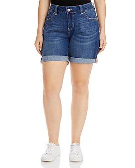 JAG Jeans Plus - Carter Denim Girlfriend Shorts in Mystic