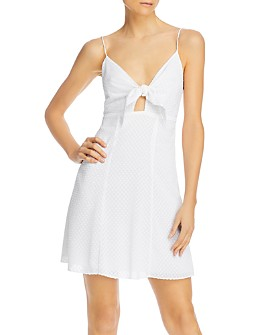 Alice and Olivia - Roe Tie-Front Flare Dress