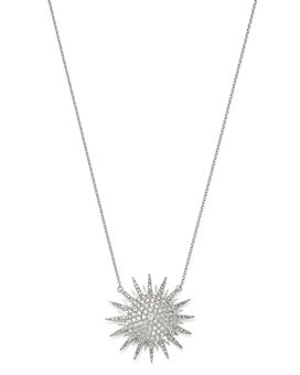 "Bloomingdale's - Diamond Starburst Pendant Necklace in 14K White Gold, 15-17"", 1.0 ct. t.w. - 100% Exclusive"