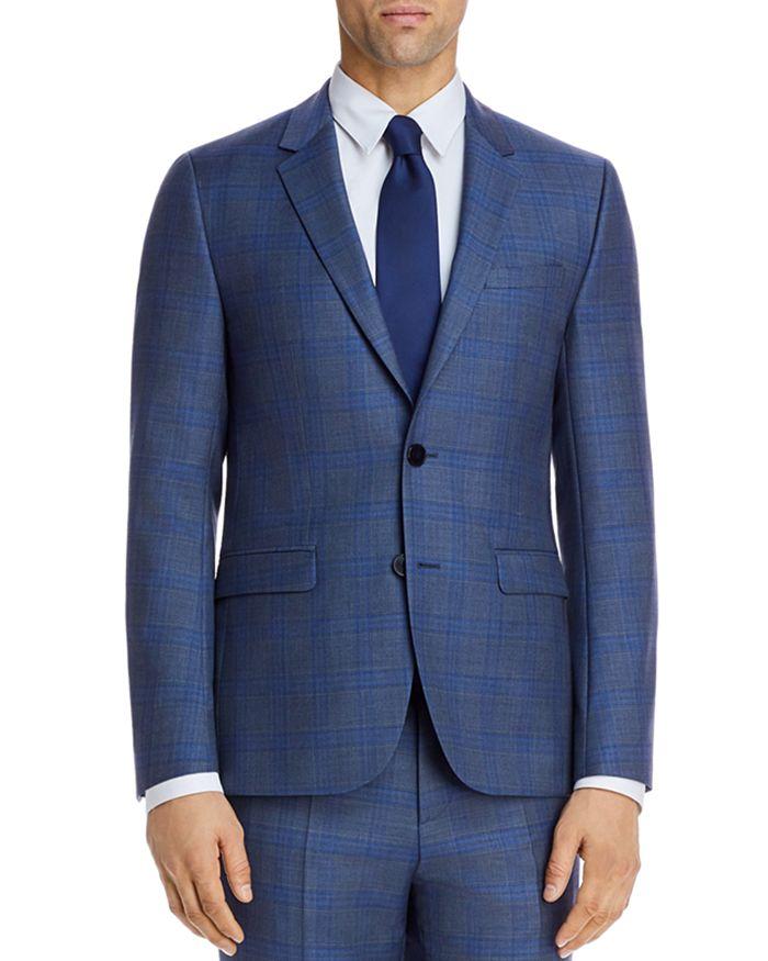 HUGO - Astian Sharkskin Plaid Extra Slim Fit Suit Jacket