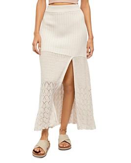 Free People - Bari Crocheted Front-Slit Skirt