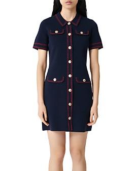 Maje - Rosie Contrast-Stitch Knit Dress