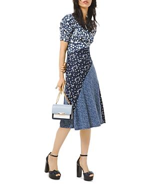 Michael Michael Kors Mixed Print Midi Dress-Women